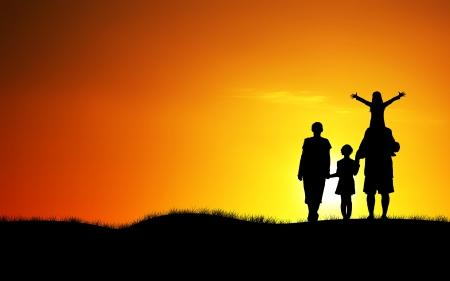 happy family concept: happy family