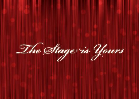 the stage is yours Stock Photo
