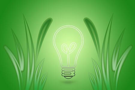 bulb with green grass photo