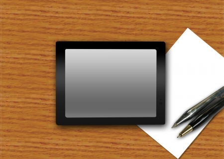 screen touch tab on the table