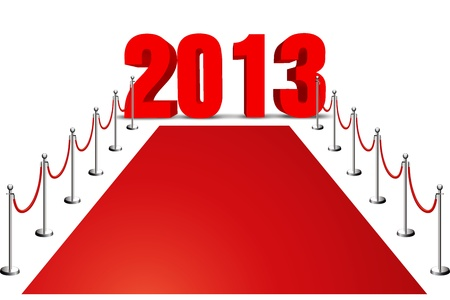 new year 2013 red carpet Stock Photo - 16855752