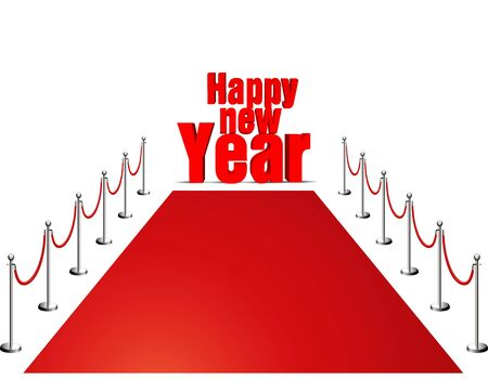 new year 2013 red carpet Stock Photo