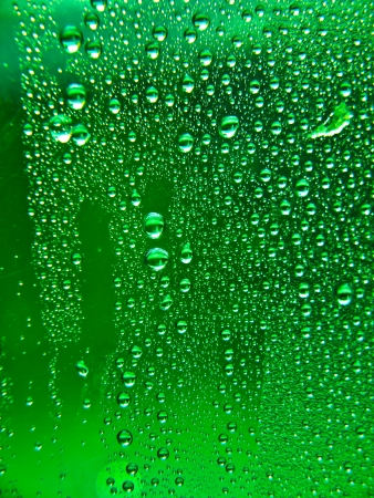 Water drops on window glass Stock Photo