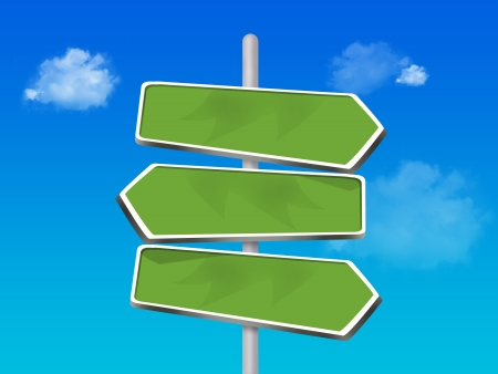 3 way direction signs
