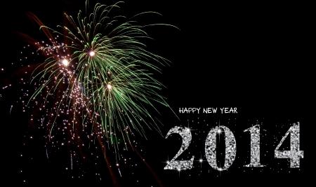 dimond: happy new year 2014 Stock Photo