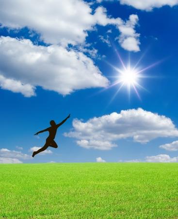 man jump photo