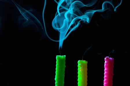 candle smoke photo