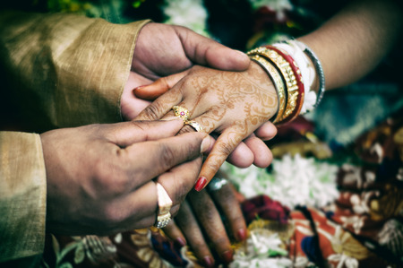 indianen: indian trouwring Stockfoto