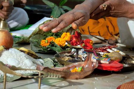 bengali: indian wedding ritual                             Stock Photo