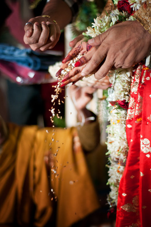 indian bride: Indian wedding rituals Stock Photo