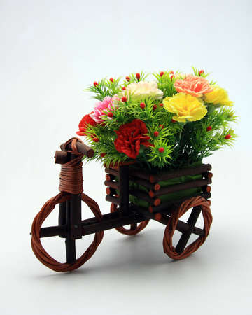 Flower cart model with isolated photo
