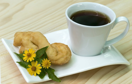 lightsome: Coffee with deep-fried doughstick breakfast