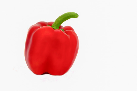 pimiento: Red pepper on a white background Stock Photo