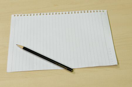 perforation: note book and Message short letter.