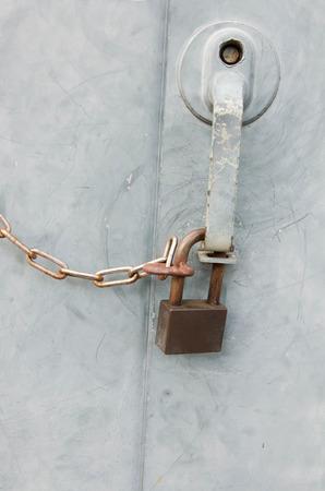 keep gate closed: locked gate