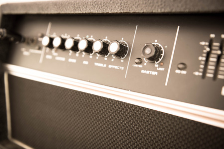 guitar amplifier: Guitar amplifier,closeup.