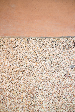 white pebble: A flat background White pebble on the garden ground Stock Photo