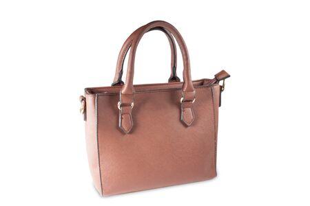 capacious: women handbag isolated over white