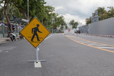 pedestrian sign in the street Zdjęcie Seryjne