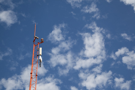 equipment connection tool of Wireless Internet business. Zdjęcie Seryjne