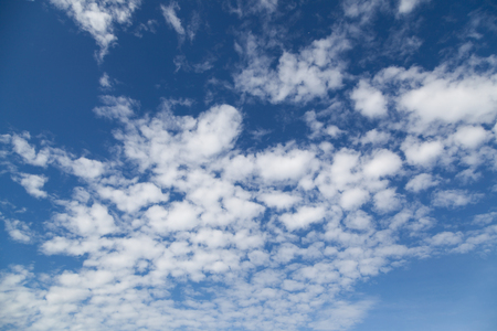 landscape beautiful cumulus clouds against a blue sky on a sunny day