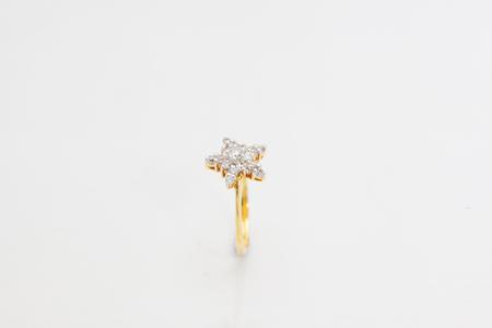Diamond Engagement Ring Macro.