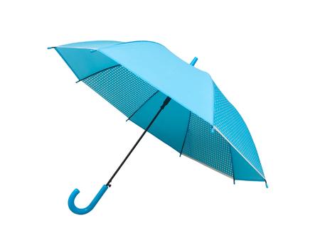 Blue umbrella on white background. Zdjęcie Seryjne