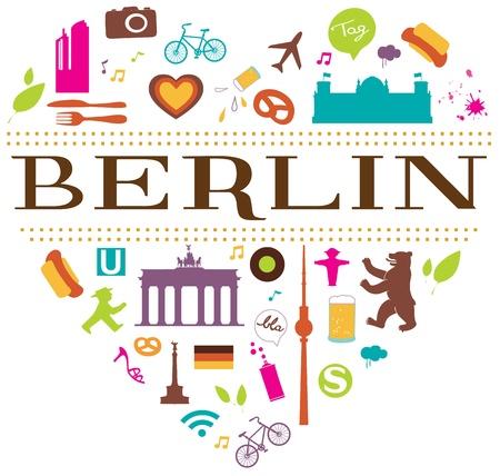 bandera de alemania: berliner estilo de vida Vectores
