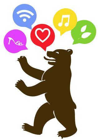berlin: berliner bear and love, internet, shopping, organic, music signals