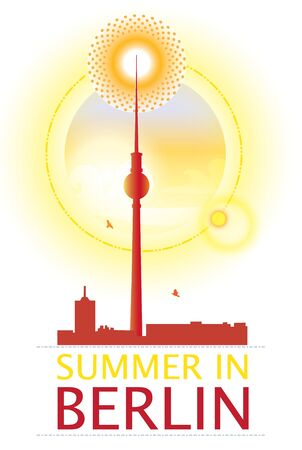 powe: Berlin in a hot summer day