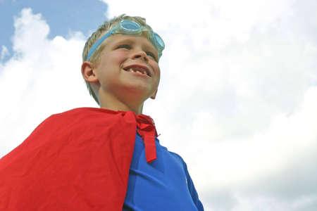 crusade: Boy dressed as superhero
