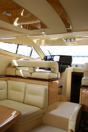 This is an interior of yacht photo