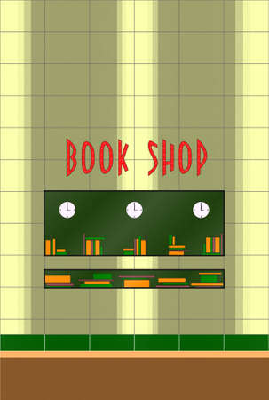 This is a book store facade of 50s style at day time Stock Photo - 3532274