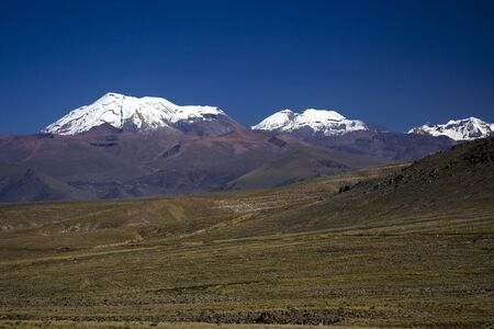 dormant: Dormant volcano Nevado Ampato in the Andes of southern Peru, not far from Arequipa Stock Photo