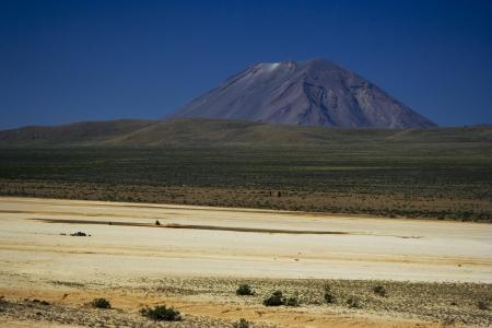 aguada: El Misti volcano in Salinas y Aguada Blanca National Park, Peru Stock Photo