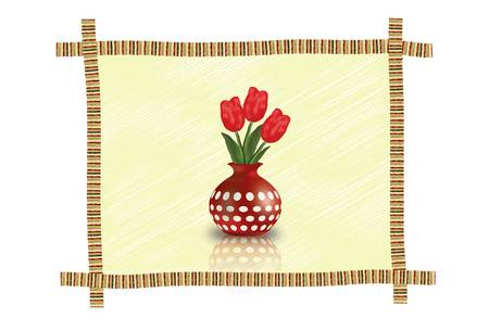 vase: Flower vase Illustration