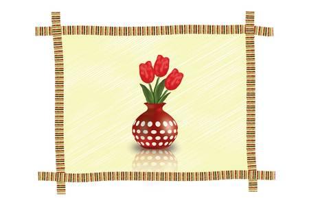 vase: Flower vase Illustration