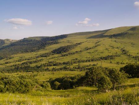 Beauty green meadow in caucasus mountain in Georgia. Stock Photo - 4821138
