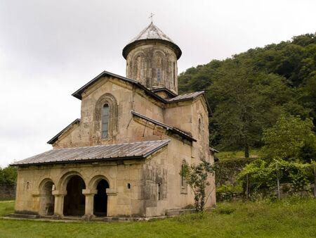 gelati: Gelati old orthodox monastery near Kutaisi - Georgia. Cloudy day