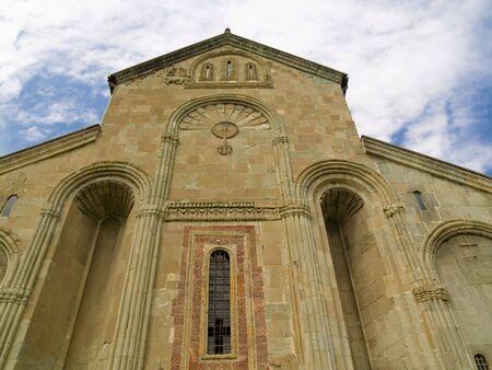 Front of Orthodox cathedral in Mtskheta near Tbilisi - Georgia. Stock Photo - 4821095