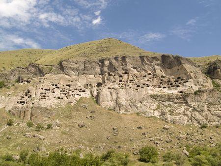 Prehistoric stone city in georgia. Vardzia beauty view. Stock Photo - 4914166
