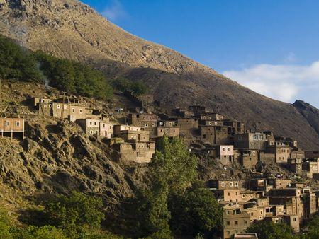 berber: Atlas mountain, Morocco. Beauty small berber village.