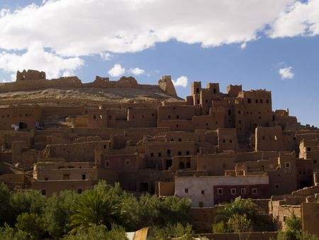 Beauty old clay village Ait Benhaddou - view. Morocco. Stock Photo - 4913867