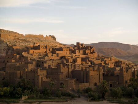 Beauty old city in morocco. Ait Benhaddou. Sunset Stock Photo - 4913841