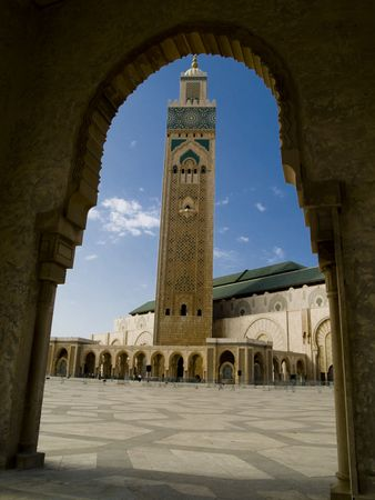 Mosque Hassan II in Casablanca, Morocco. Summer day photo