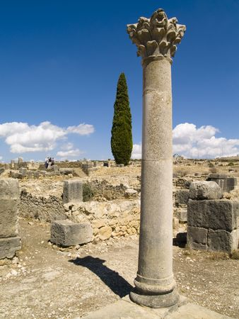 Volubilis Roman old city, Morocco, and it is declared a UNESCO World Heritage site. photo