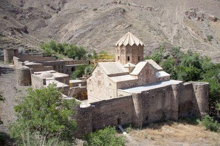 �glise St. Stephanos en Iran pr�s de Jolfa. Vieux et beaut�. Banque d'images