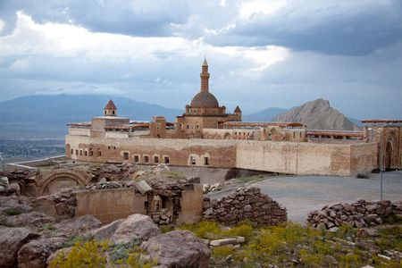 Ishak Pasha Palace near Dogubayazit in Eastern Turkey. Old fortification