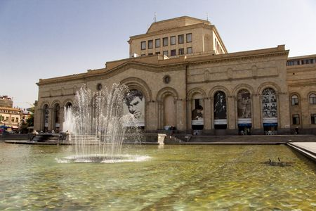 Yerevan capital of Armenia - central square in this town