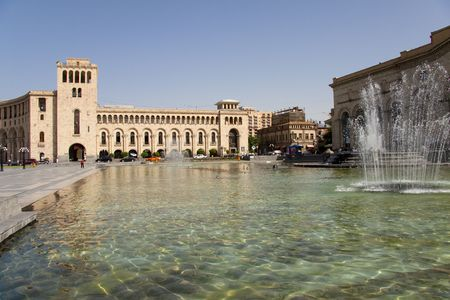 Square in centre of Yerevan Armenia.Summer day.